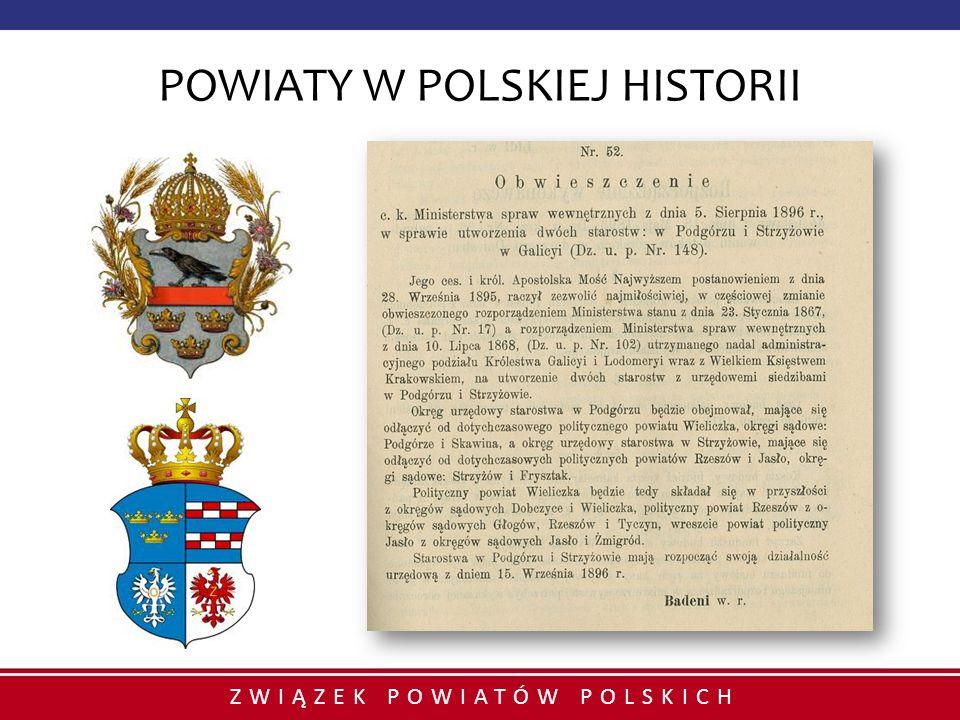 POWIATY W POLSKIEJ HISTORII