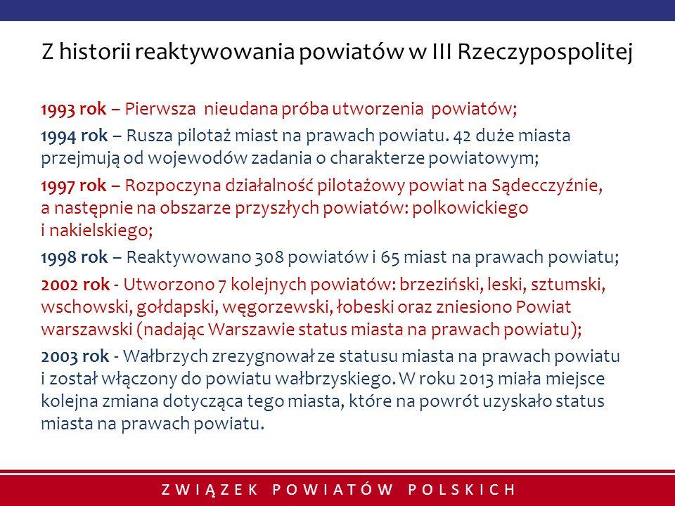 Z historii reaktywowania powiatów w III Rzeczypospolitej