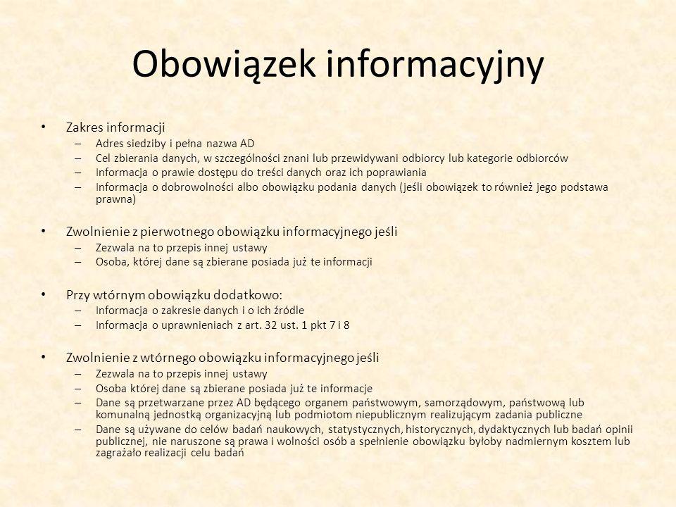 Obowiązek informacyjny