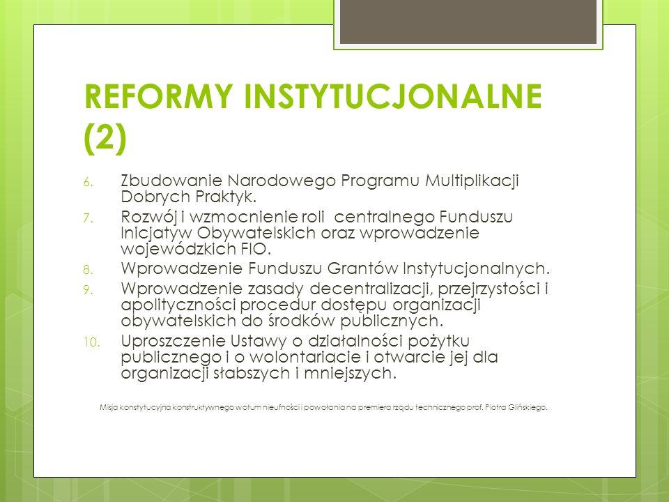 REFORMY INSTYTUCJONALNE (2)