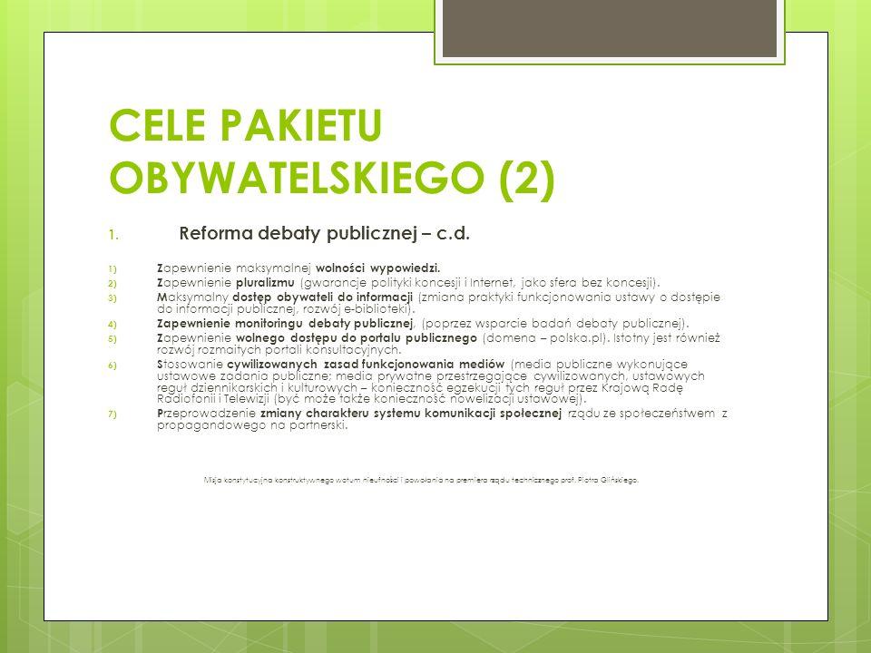 CELE PAKIETU OBYWATELSKIEGO (2)