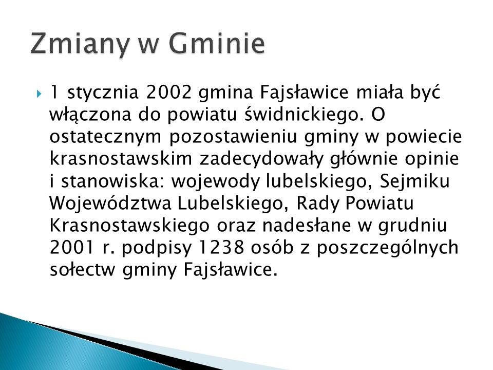 Zmiany w Gminie