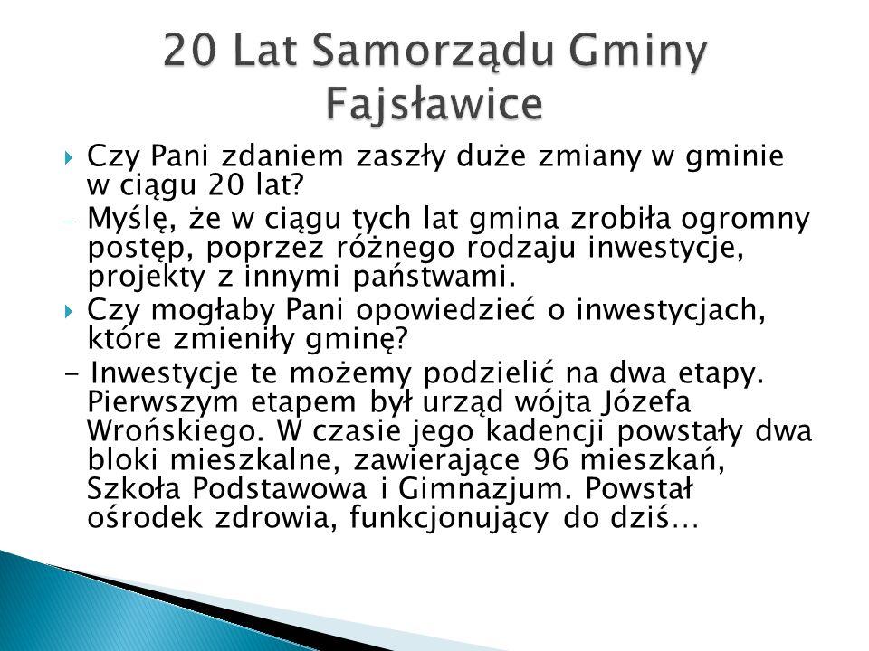 20 Lat Samorządu Gminy Fajsławice