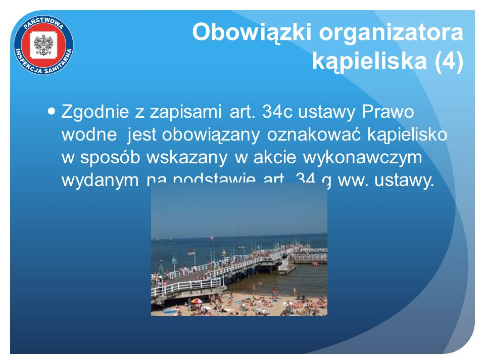 Obowiązki organizatora kąpieliska (4)