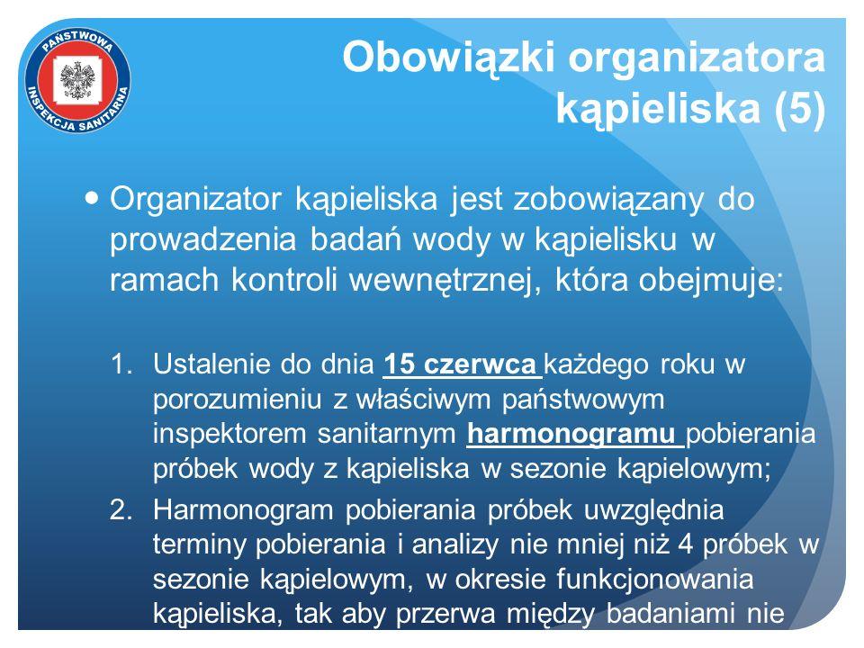 Obowiązki organizatora kąpieliska (5)