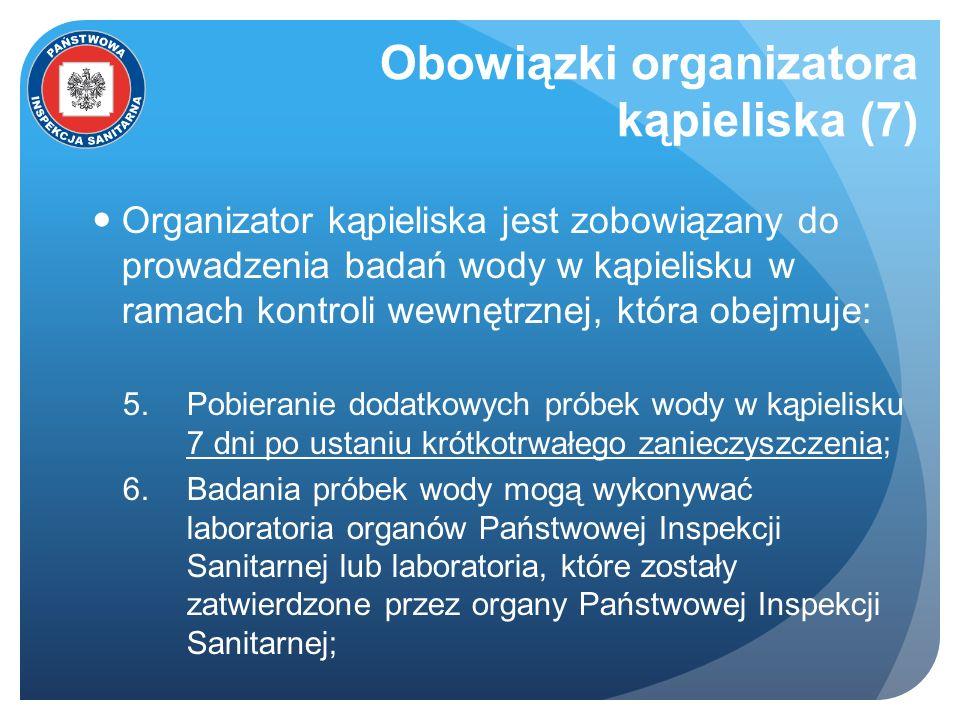 Obowiązki organizatora kąpieliska (7)