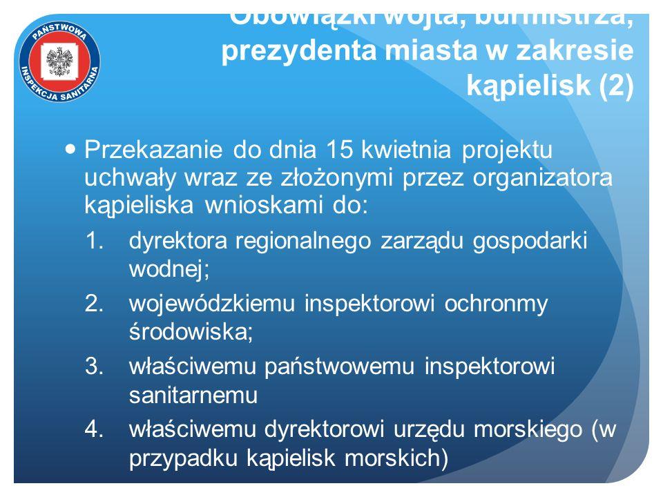 Obowiązki wójta, burmistrza, prezydenta miasta w zakresie kąpielisk (2)