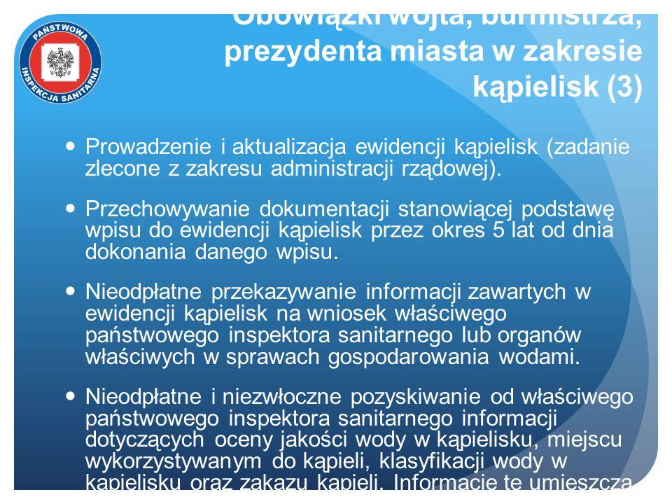 Obowiązki wójta, burmistrza, prezydenta miasta w zakresie kąpielisk (3)