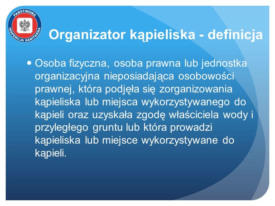 Organizator kąpieliska - definicja