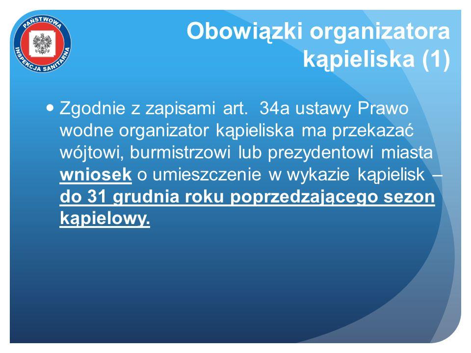 Obowiązki organizatora kąpieliska (1)
