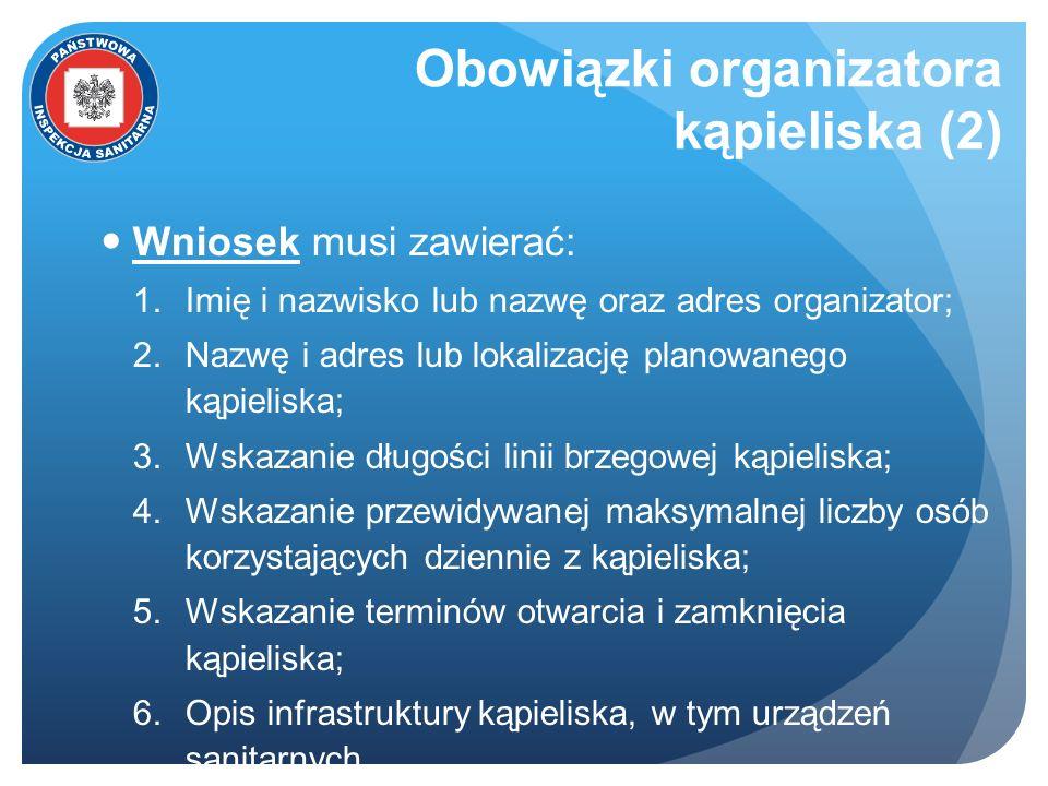 Obowiązki organizatora kąpieliska (2)