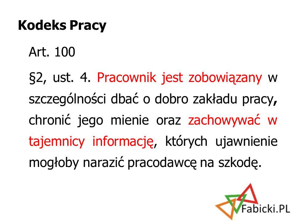 Kodeks Pracy Art. 100.