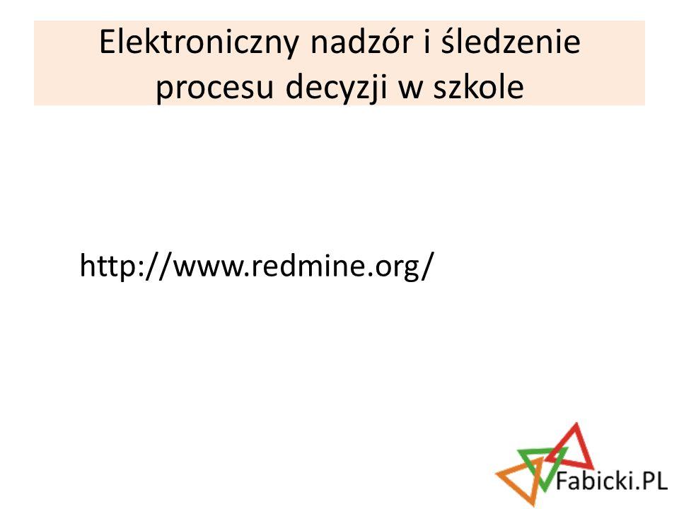 Elektroniczny nadzór i śledzenie procesu decyzji w szkole