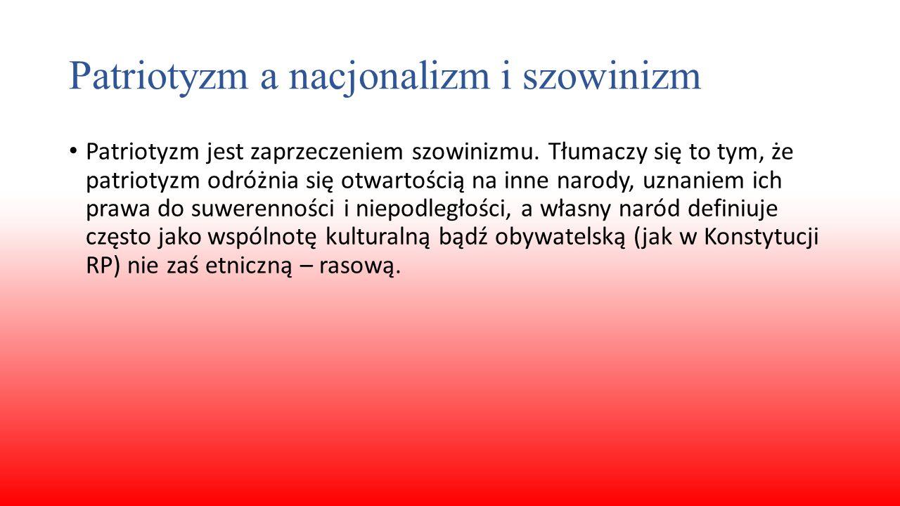 Patriotyzm a nacjonalizm i szowinizm