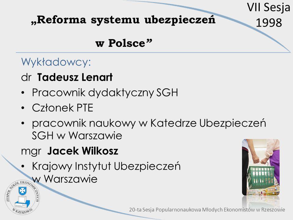 """""""Reforma systemu ubezpieczeń w Polsce"""
