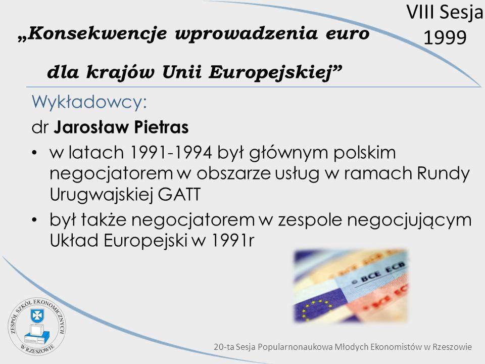 """""""Konsekwencje wprowadzenia euro dla krajów Unii Europejskiej"""