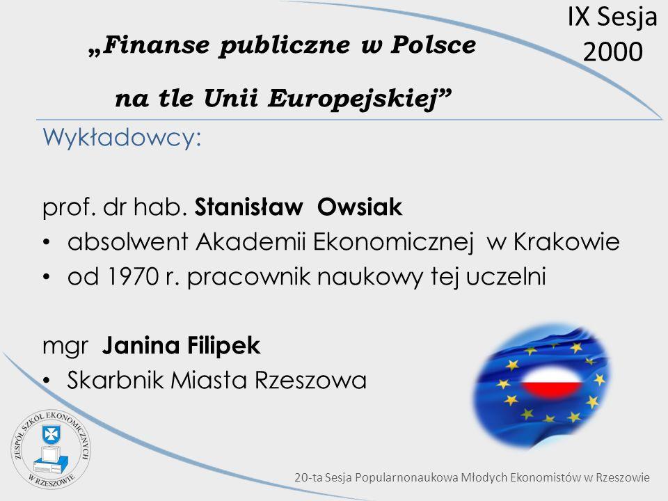 """""""Finanse publiczne w Polsce na tle Unii Europejskiej"""