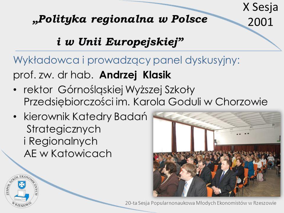 """""""Polityka regionalna w Polsce i w Unii Europejskiej"""