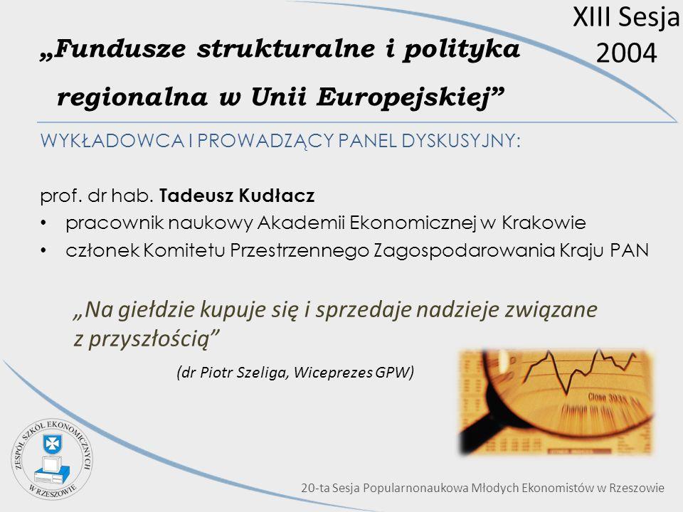 """""""Fundusze strukturalne i polityka regionalna w Unii Europejskiej"""