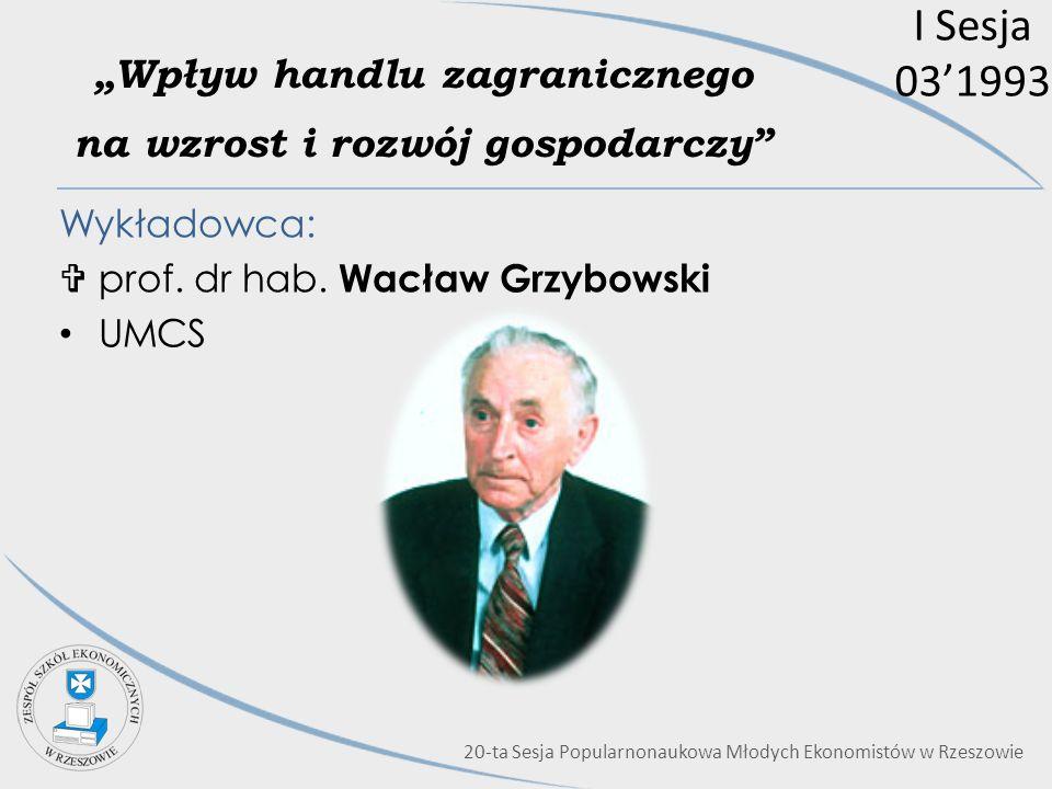 """""""Wpływ handlu zagranicznego na wzrost i rozwój gospodarczy"""