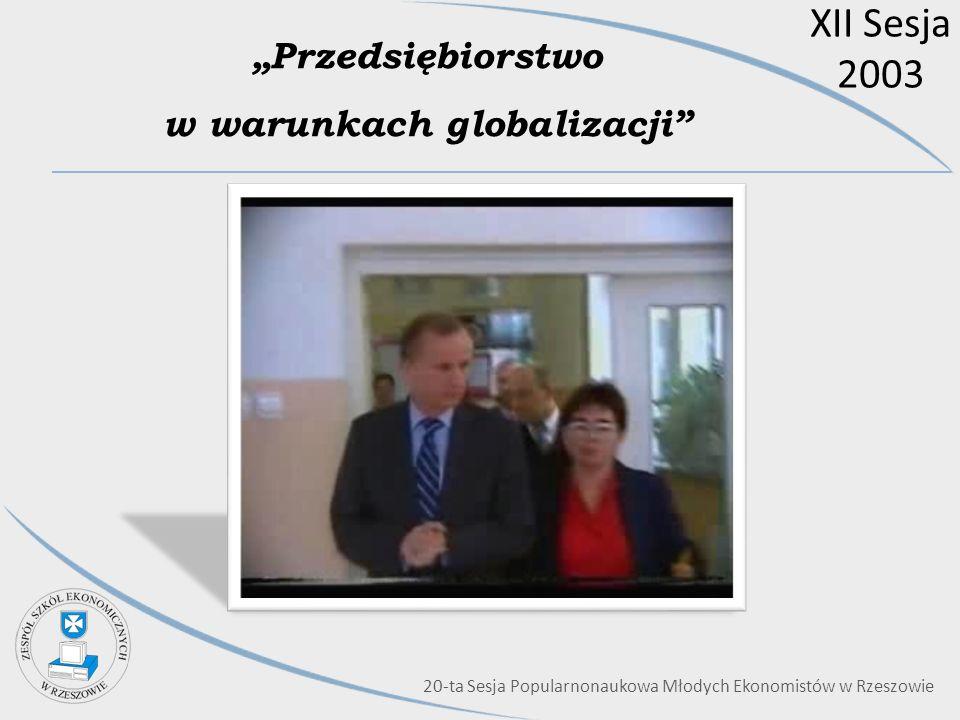"""""""Przedsiębiorstwo w warunkach globalizacji"""