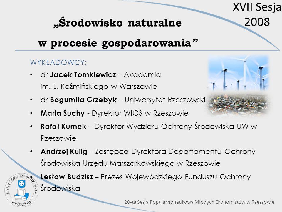"""""""Środowisko naturalne w procesie gospodarowania"""