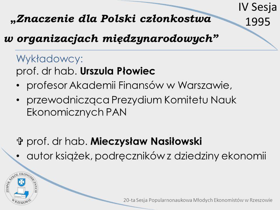 """""""Znaczenie dla Polski członkostwa w organizacjach międzynarodowych"""