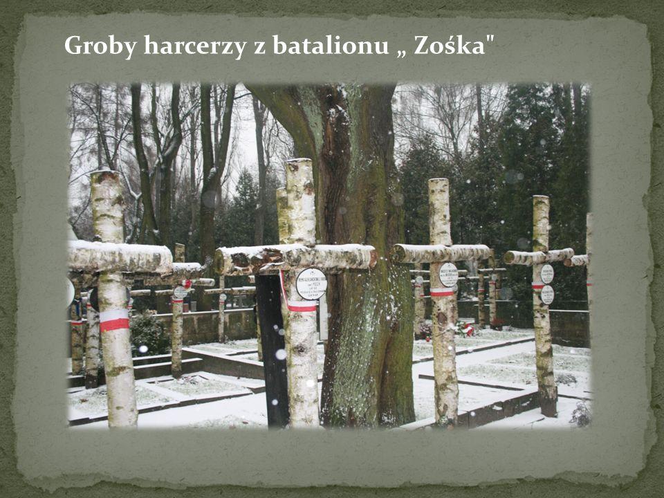"""Groby harcerzy z batalionu """" Zośka"""
