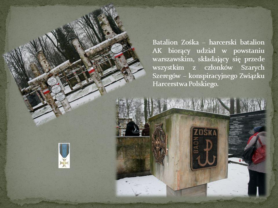 Batalion Zośka – harcerski batalion AK biorący udział w powstaniu warszawskim, składający się przede wszystkim z członków Szarych Szeregów – konspiracyjnego Związku Harcerstwa Polskiego.