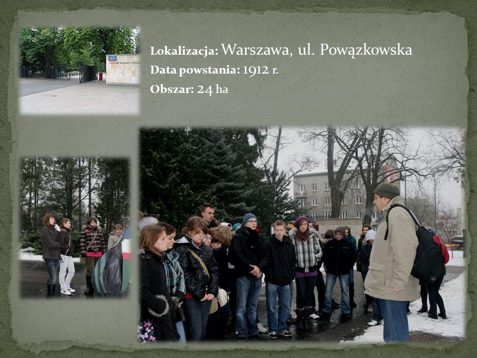 Lokalizacja: Warszawa, ul. Powązkowska Data powstania: 1912 r