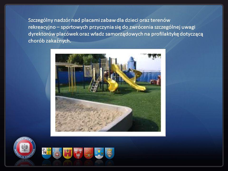 Szczególny nadzór nad placami zabaw dla dzieci oraz terenów rekreacyjno – sportowych przyczynia się do zwrócenia szczególnej uwagi dyrektorów placówek oraz władz samorządowych na profilaktykę dotyczącą chorób zakaźnych.