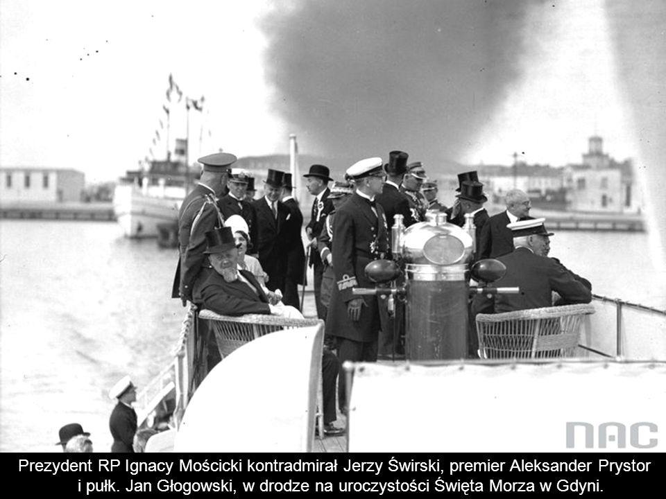 i pułk. Jan Głogowski, w drodze na uroczystości Święta Morza w Gdyni.