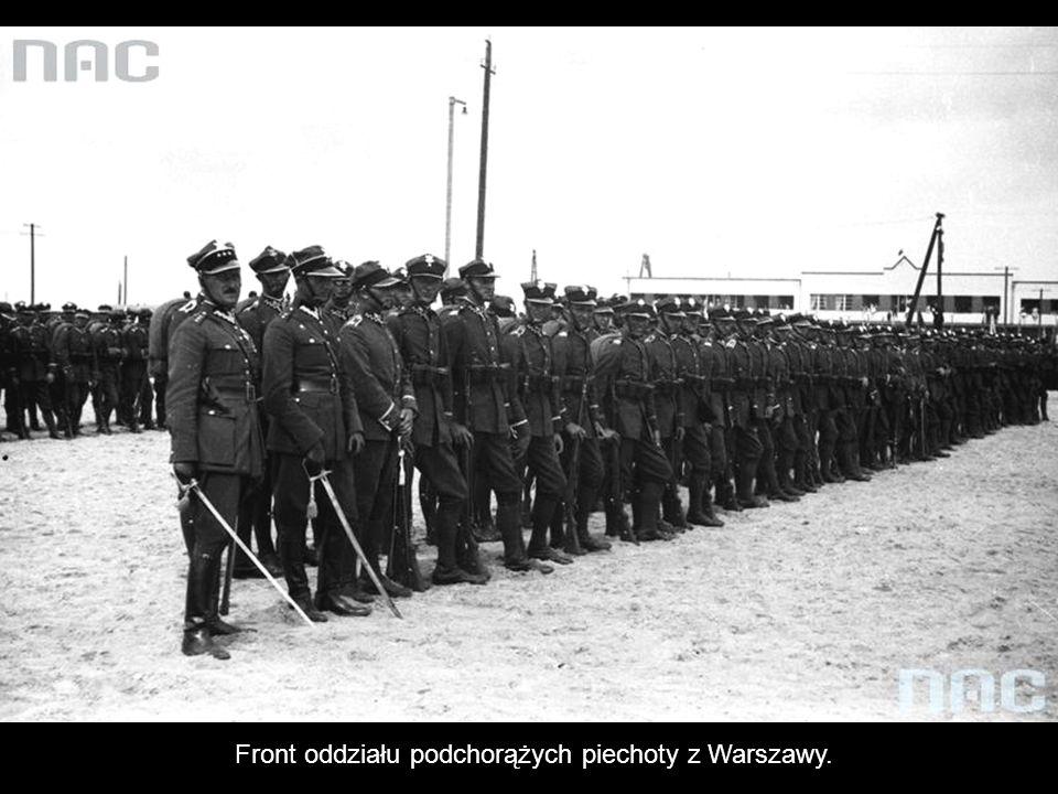 Front oddziału podchorążych piechoty z Warszawy.