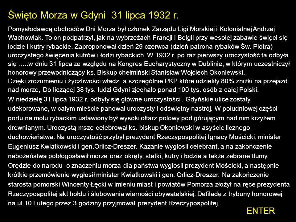 Święto Morza w Gdyni 31 lipca 1932 r.