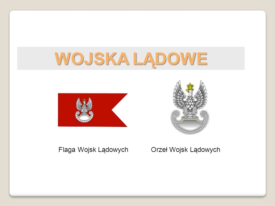 WOJSKA LĄDOWE Flaga Wojsk Lądowych Orzeł Wojsk Lądowych