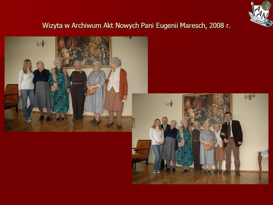 Wizyta w Archiwum Akt Nowych Pani Eugenii Maresch, 2008 r.