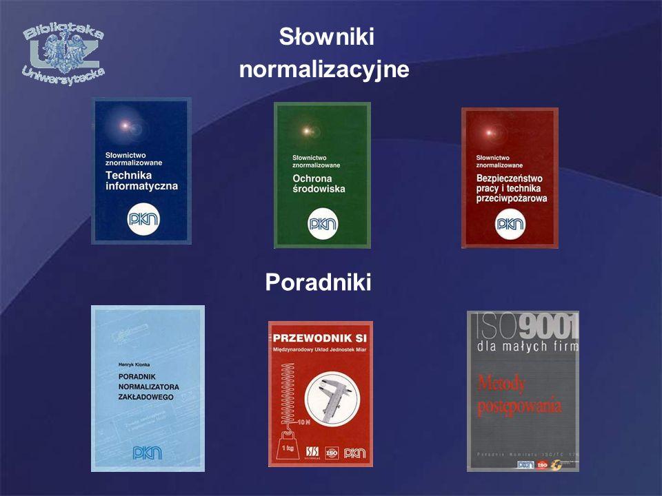 Słowniki normalizacyjne Poradniki