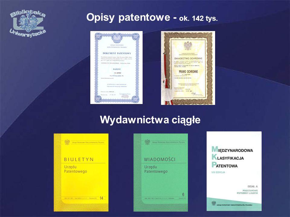 Opisy patentowe - ok. 142 tys.