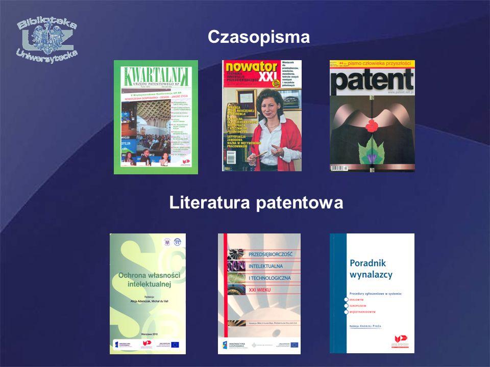 Czasopisma Literatura patentowa