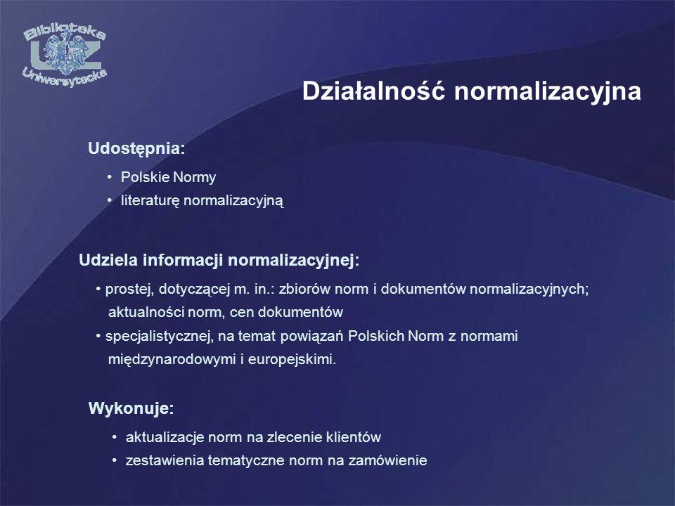 Działalność normalizacyjna