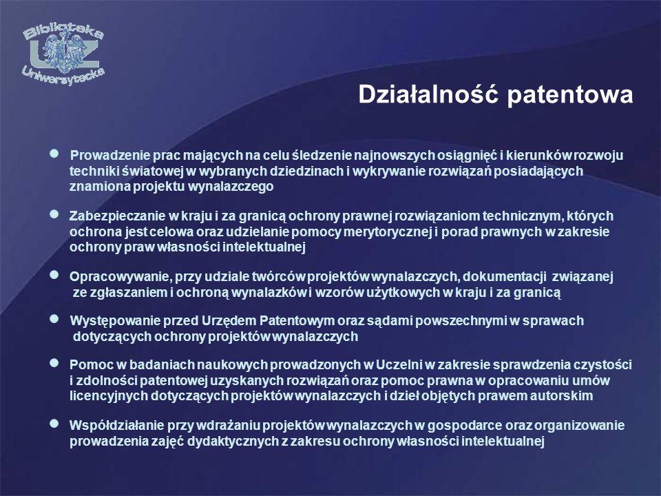 Działalność patentowa