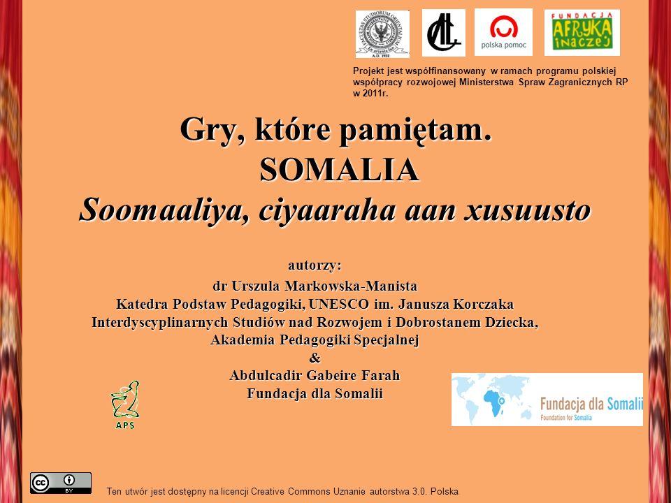 Gry, które pamiętam. SOMALIA Soomaaliya, ciyaaraha aan xusuusto