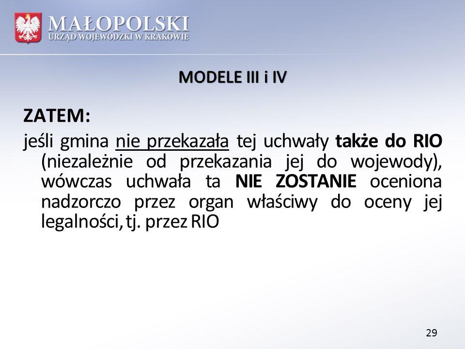 MODELE III i IV
