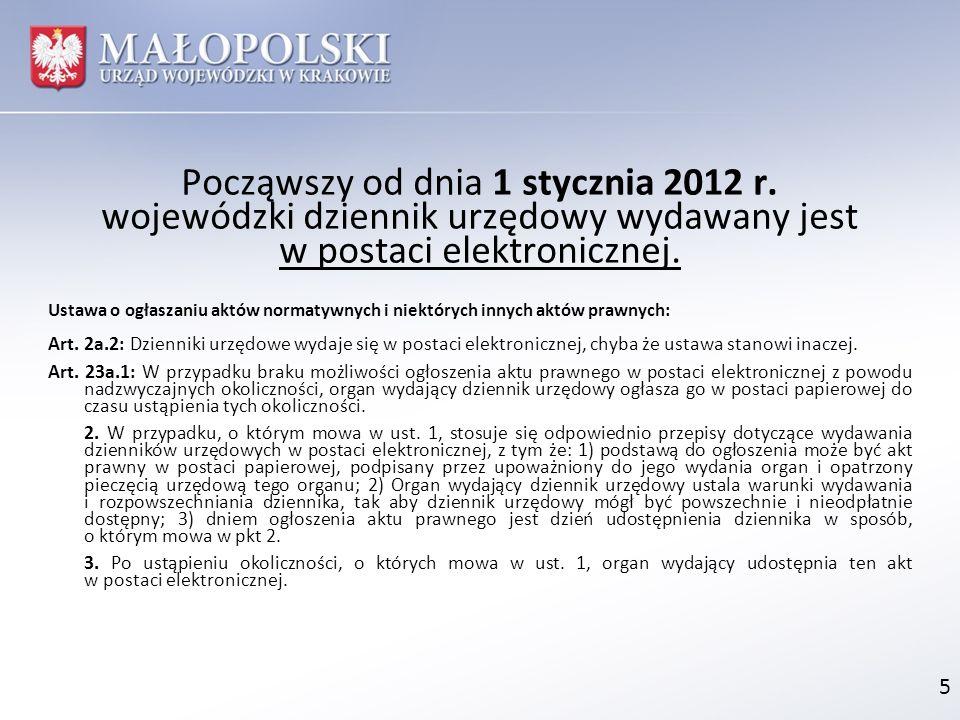 Począwszy od dnia 1 stycznia 2012 r.