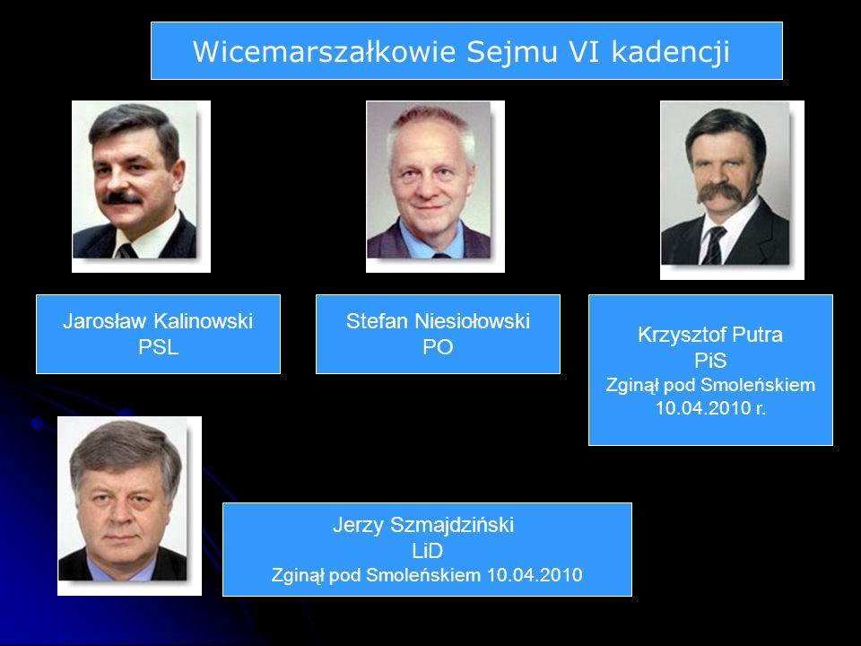 Wicemarszałkowie Sejmu VI kadencji