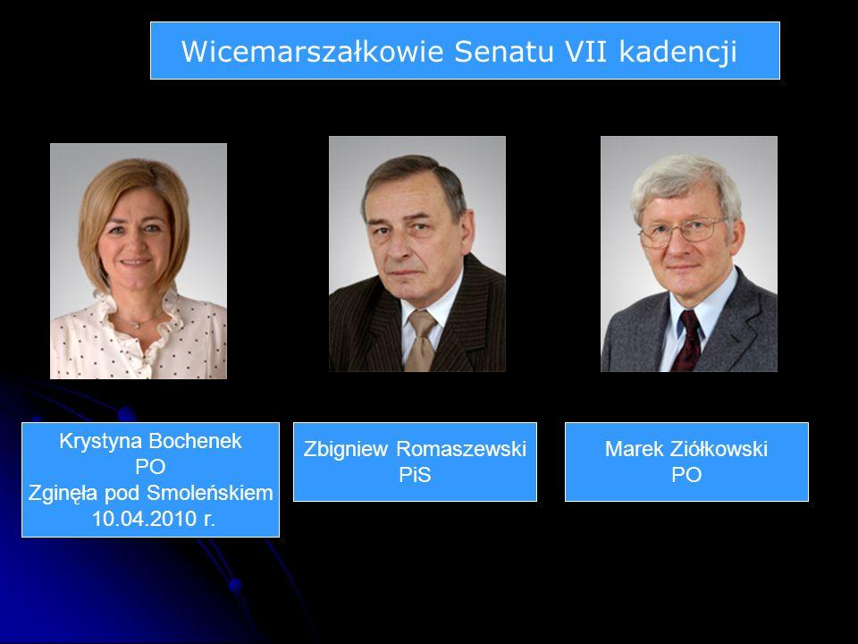 Wicemarszałkowie Senatu VII kadencji