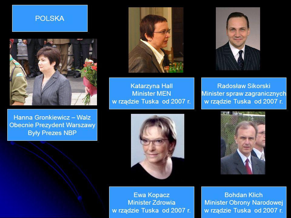 POLSKA Katarzyna Hall Minister MEN w rządzie Tuska od 2007 r.