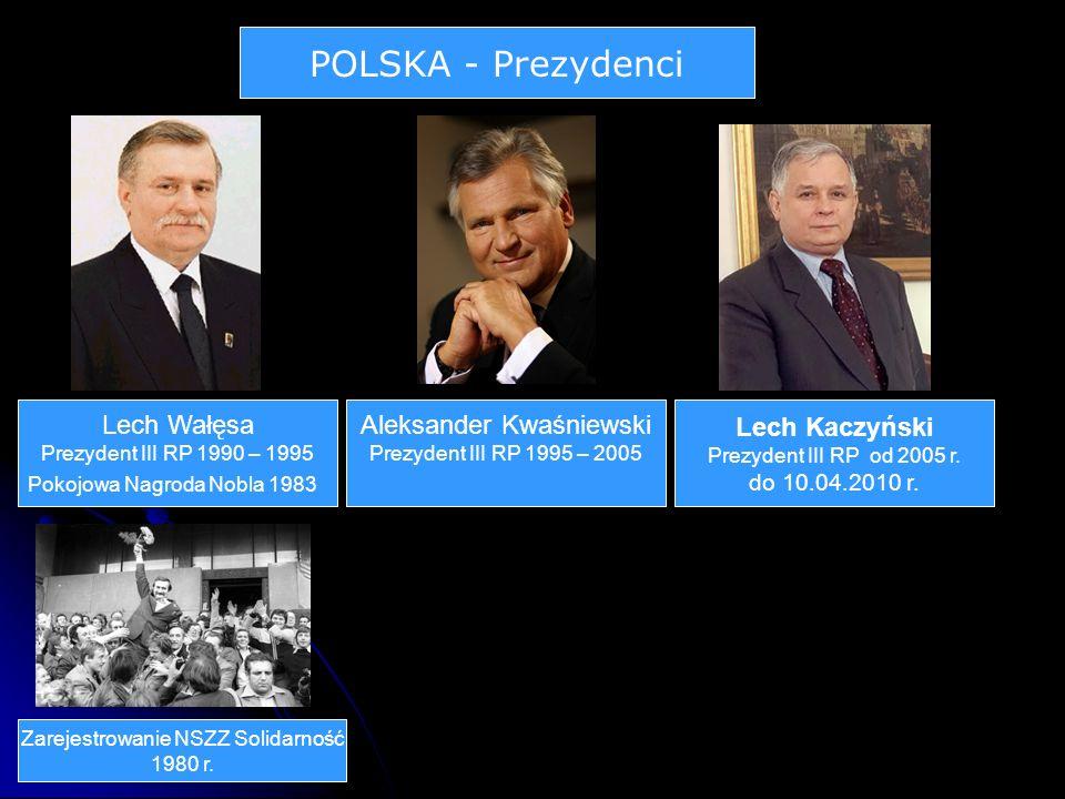 POLSKA - Prezydenci Lech Wałęsa Aleksander Kwaśniewski Lech Kaczyński