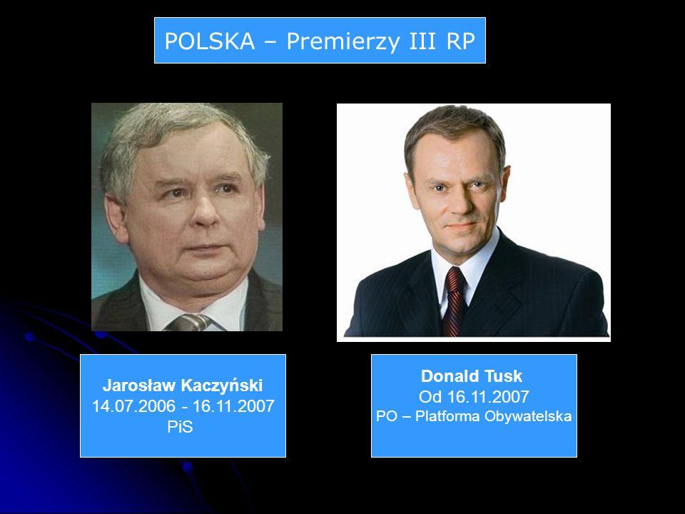 POLSKA – Premierzy III RP