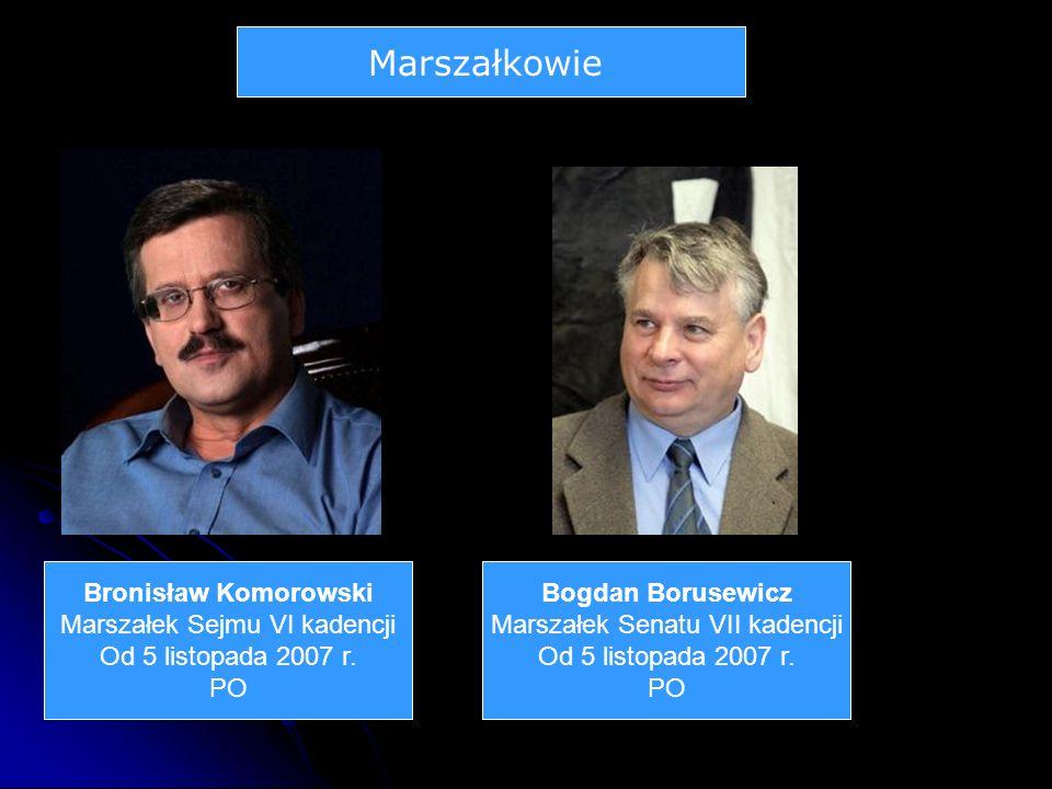 Marszałkowie Bronisław Komorowski Marszałek Sejmu VI kadencji
